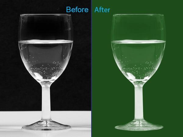 Glass transparent masking